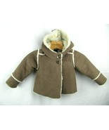 babyGap 12-18 Months winter jacket tan with ivory sherpa look interior  - $34.65