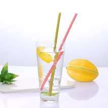 Biodegradable  Disposable Edible Colorful Straw Kitchen Bar Tool Drink S... - $67,47 MXN