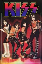 KISS Band On Cubes 1977 Reproduction 24 x 36 Poster - Love Gun Rock Music - $50.00