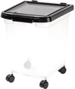 New Iris Nesting Airtight Pet Dog Fresh Food Storage Container Large 25 ... - $22.44