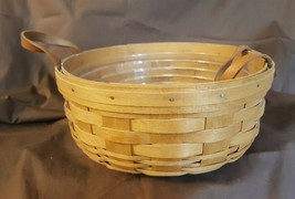 Longaberger 1994 DARNING BASKET With Plastic Protector - $19.95
