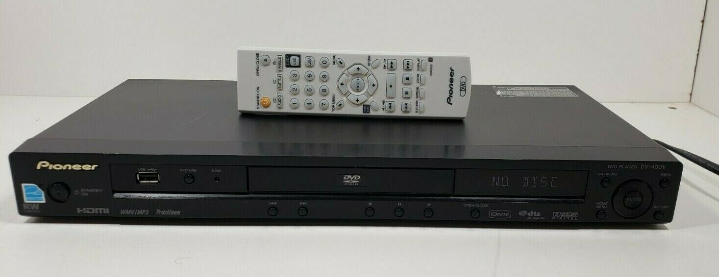 Pioneer DV-400V DVD HDMI Player with Remote. Tested
