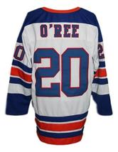 Custom Name # San Diego Gulls Retro Hockey Jersey New White O'Ree #20 Any Size image 2