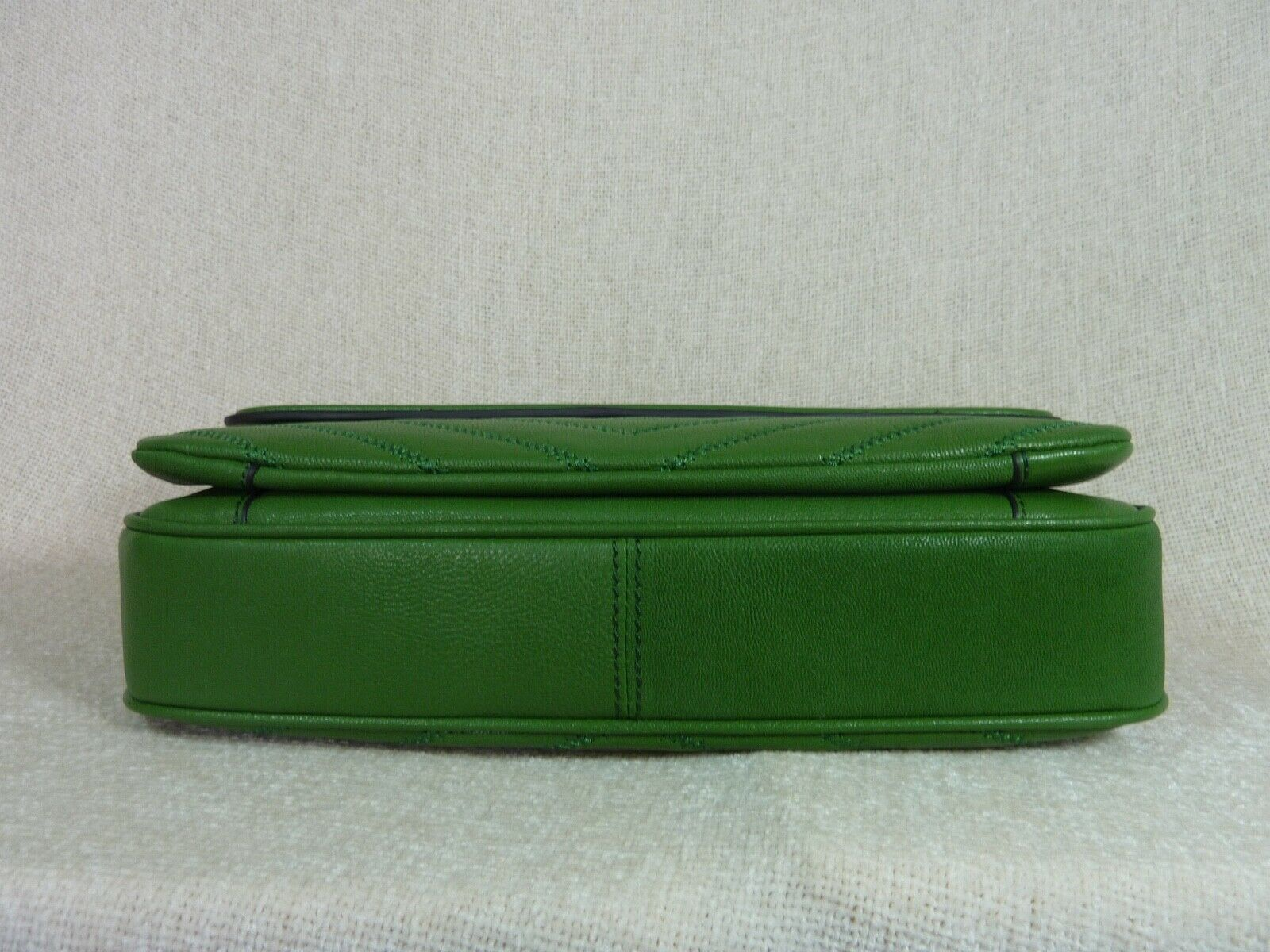 NWT Tory Burch Watercress Green Leather Fleming Convertible Shoulder Bag image 6