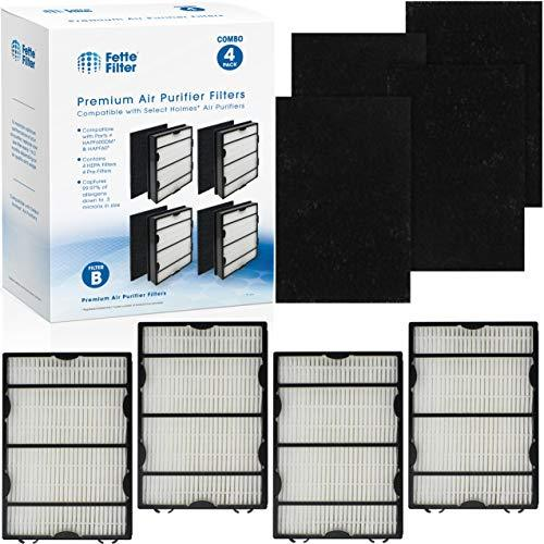 Fette Filter - True Hepa Filter Set Compatible with Holmes HAPF600 Filter B True