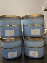 4 New Bath & Body Works Crystal Waters 3 Wick Scented Wax Candle 14.5 Large - $79.10