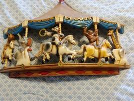 1979 Homco Universal Statuary Circus Animals Carousel Wall Hanging Brass Ring - $32.73