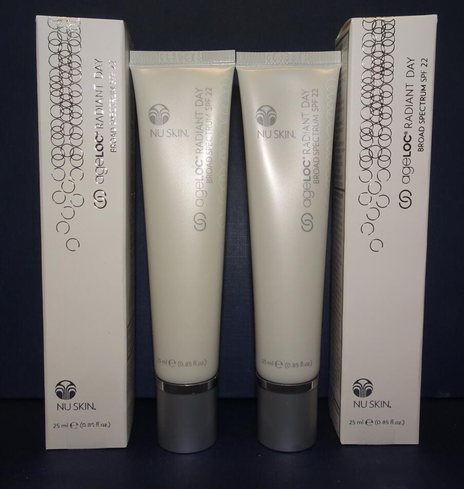 Two pack: Nu Skin Nuskin ageLOC Radiant Day SPF 22 25ml 0.85oz SEALED IN BOX x2 - $110.00