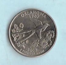 2008 P Oklahoma State Washington Quarter - Circulated Light  Wear About ... - $1.25
