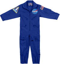 Kids Blue NASA Space Camp Flight Suit, Aviator Coveralls Air Force Jumpsuit - $53.99