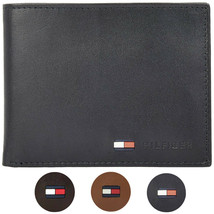 Tommy Hilfiger Men's Premium Leather Credit Card ID Passcase Billfold Wallet