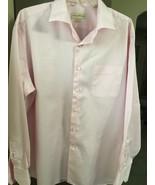 Tommy Bahama Men's Long-Sleeve Pink Stripe Dress Shirt, 100% cotton, Sz ... - $12.65
