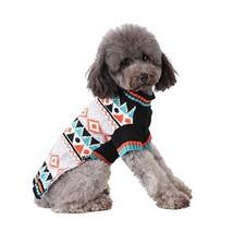 Cuteboom Pet Plaid Sweater Dog Winter Knitwear Warm Costume Geometric Pa... - $16.72