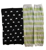 Set of 2 Stripe/Star Pattern Baby Leg Warmers Leg Guards,0-3 Years