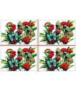 $$ wholesale $$ TURKS & CAICOS 1994 BUTTERFLIES on FLOWERS x4 S/S MNH IN... - ₹340.25 INR