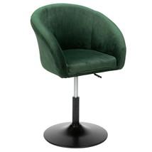 Adjustable Bucket-style Leisure Chair Dark Green Flannel Fabric Bar Chair - $126.85