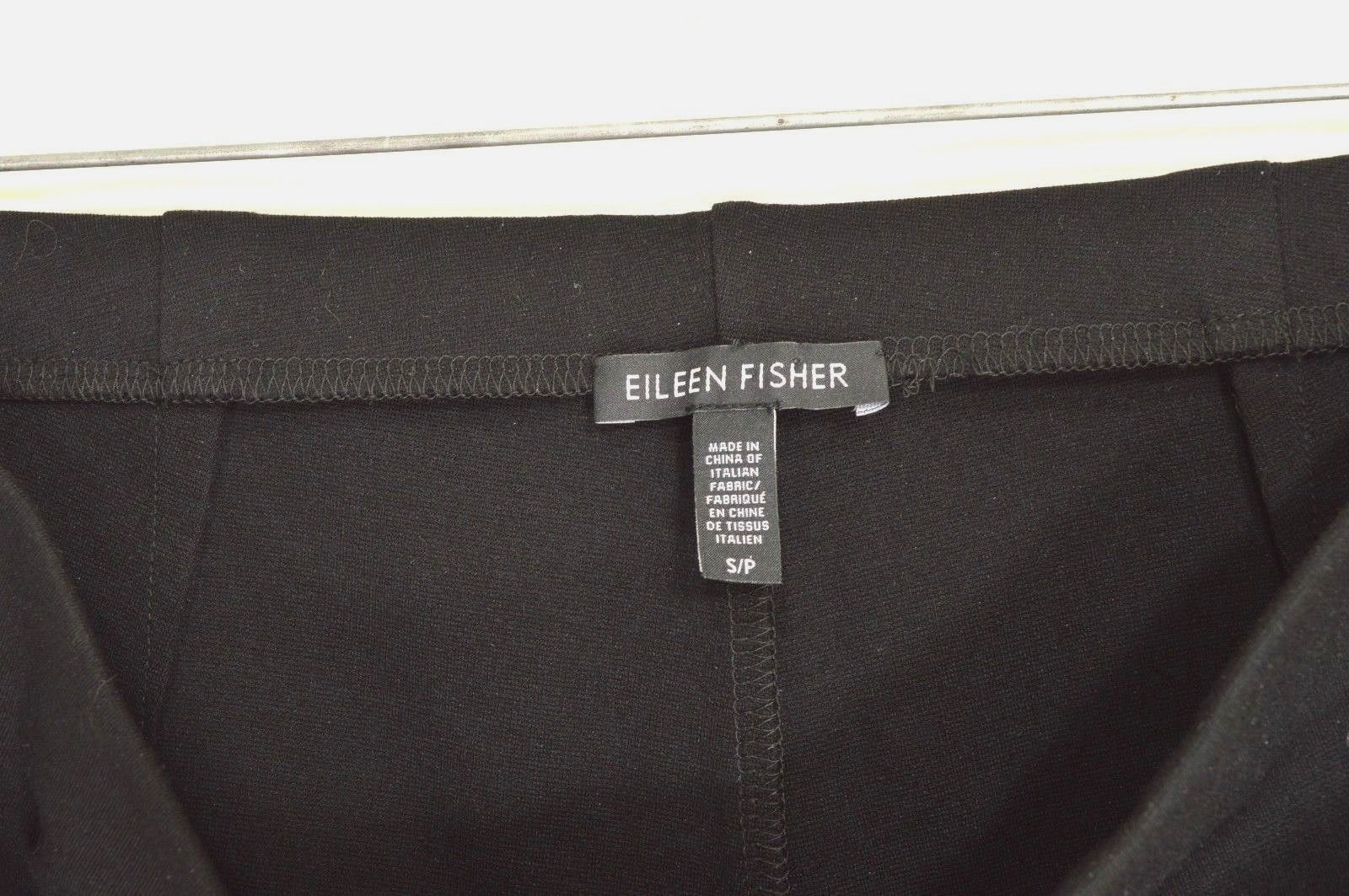 Eileen Fisher leggings S x 32 black smooth viscose blend skinny