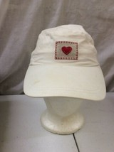 trucker hat baseball cap Vintage Hook And Loop Gap White Hat Stitched He... - $39.99