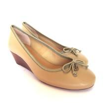 l-3360952 NEU TORY BURCH Chelsea 45mm Sandkasten beige Keilabsatz Schuhe Größe - $121.12