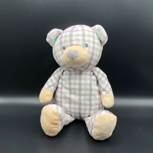 Primary image for Stuart Teddy Bear Plush Checks Plaid Soft Stuffed Baby Lovey Manhattan Toy Comp.