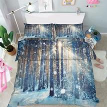 3D Snow Forest 1 Bed Pillowcases Quilt Duvet Cover Set Single Queen King Size AU - $64.32+