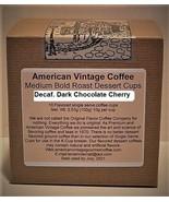 Decaf. Dark Chocolate Cherry flavored Dessert Coffee 10 Medium Bold K-Cups - $10.41