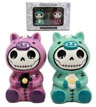 Ebros Furry Bones Unicorn Salt And Pepper Shakers Ceramic Set Voodoo Uni... - $15.83
