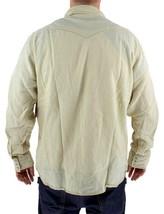 NEW LEVI'S MEN'S LINEN LONG SLEEVE BUTTON UP CASUAL DRESS SHIRT BEIGE 8151400 image 2