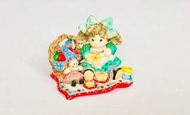 Enesco 1994 Girl Figure The Apple Of His Eye Spread God's Blessings - $17.81