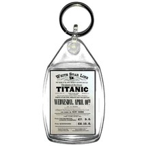 keyring double sided titanic white star line advert fun, novelty, keychain