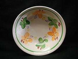 "Classic Handpainted 7-1/8"" Soup Cereal Bowl w Yellow & Green Butterflies... - $14.84"