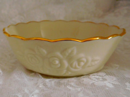 "Lenox China - 4 1/2"" x 1 3/4"" Bowl with Roses Trimmed in Gold - Beautiful! - $9.60"