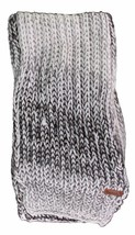 Bench Womens 100% Acrylic Grey White Sand Horal Cable Knit Winter Scarf BLVA0291