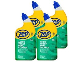 Zep New Acidic Toilet Bowl Cleaner 32 Ounces ZUATBC324 Pack 4 2X Thicker Than Be