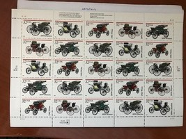 United States Antique Autos sheet mnh 1995     stamps - $12.95