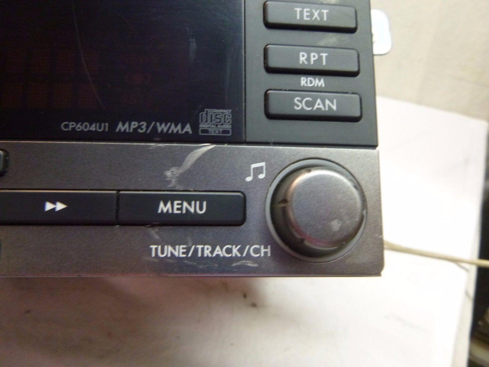 08-11 Subaru Impreza AM FM Radio Cd Mp3 Player 86201SC600 CP603U1 UTB572