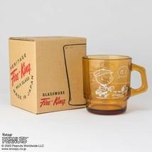 Fire King Snoopy Stacking Mug Peanuts 70th GOLF Amber Color rare - $67.61