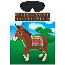 Amscan Carnival Fair Fun Pin Tail On Donkey Game Party Activity Multicol... - ₨630.03 INR
