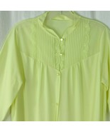 Vintage Vanity Fair Yellow Robe Dressing Gown Housecoat S Nylon Lace 3/4... - $69.25