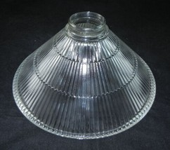 """Antique Triangle Design Clear Glass Ceiling Light Lamp Shade 10"""" w 2 Fit... - €25,82 EUR"""