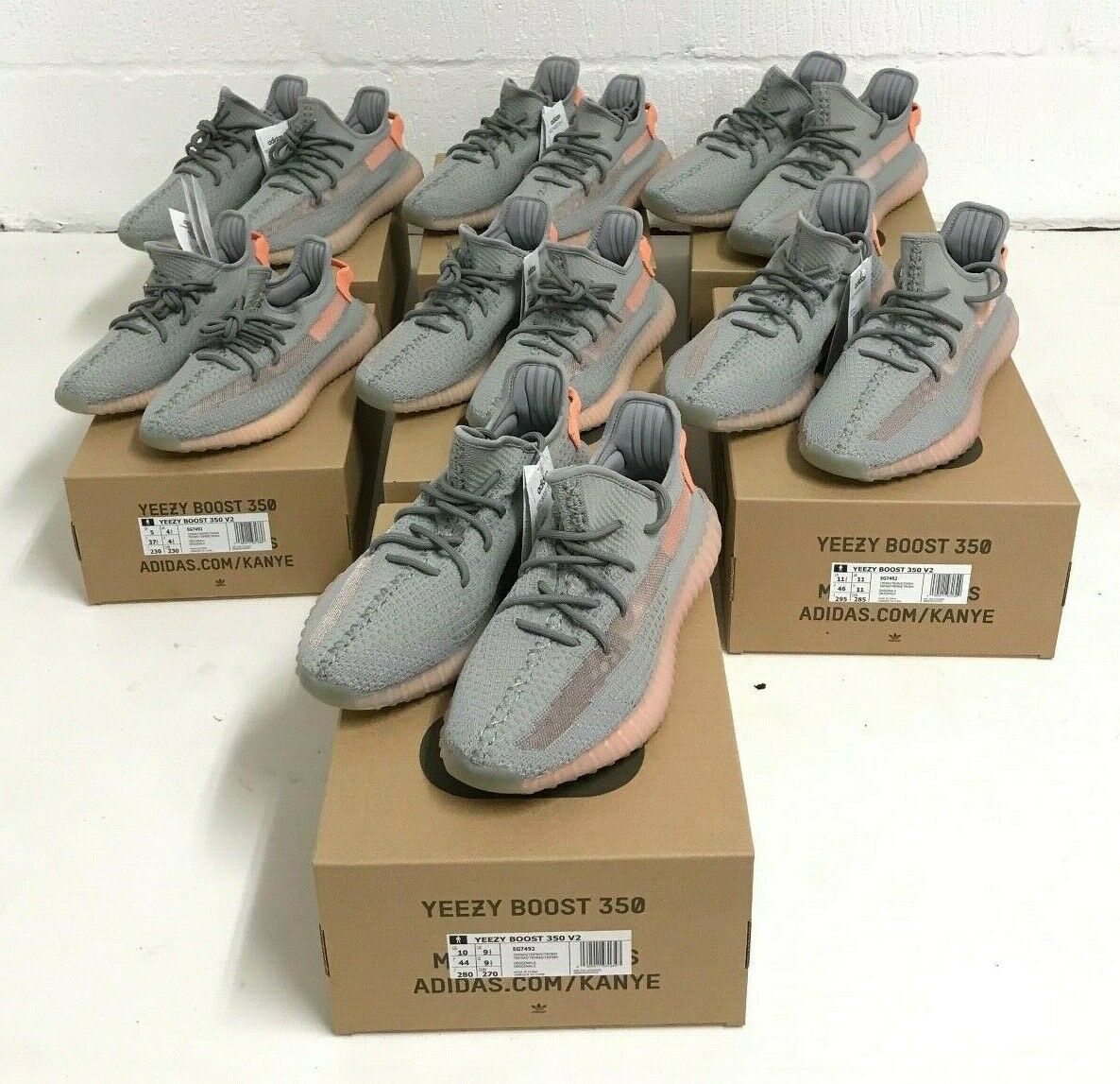 Adidas Yeezy Boost 350 V2  Grey TRFM EG7492 Sizes 3 4.5 5 5.5 6 static 3m 700