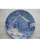The Homestead In Winter Collector Plate Out In The Barn 8 Inches Diameter - $12.86