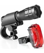 NEW LED Bicycle Bike Night Light Headlight TailLight Combo 200 Lumen Lighting - $32.02
