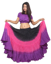 12 YARD THREE COLOR  INDIAN 100% COTTON GYPSY BOHO HIPPIE BELLY DANCING ... - $33.88