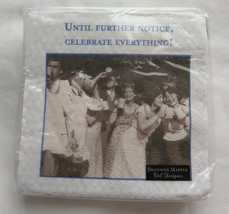 Until Further Notice Celebrate Paper Cocktail Napkins 3 Ply 3 Packs of 2... - $15.82