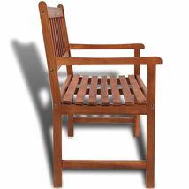 vidaXL Acacia Wood Classic Bench Outdoor Garden Chair Furniture Porch Outdoor image 3
