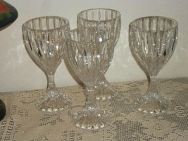 (4) Mikasa Crystal PARK LANE Wine Glasses 6 3/8 inch Set of 4 - $42.56