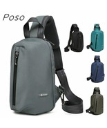 POSO® Bag Case For Ipad Chest Crossbody Tablet Backpack Shoulder Bags Kn... - $34.81