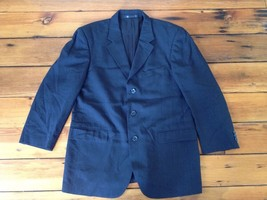 "Emanuel Ungaro Black Mens Suit Jacket Blazer 100% Wool 42R 36W 45"" Chest - $34.99"