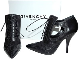 $1295 Givenchy Lace Ankle Boots Bottine Show Pointy Toe Pump Brogue Boot... - $588.00